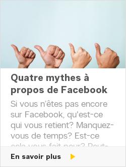 Quatre mythes à propos de Facebook