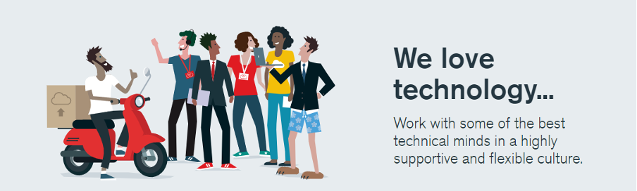 We love technology - link to Claranet's careers website page