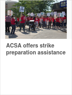 ACSA offers strike preparation assistance