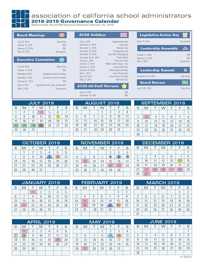 18-19 Governance Calendar