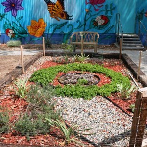 Garden designed and planted by Camp Scott girls