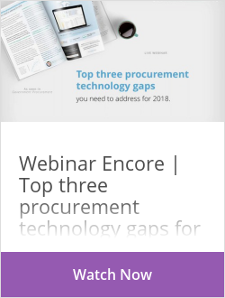 Webinar Encore | Top three procurement technology gaps for 2018