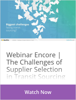 Webinar Encore | The Challenges of Supplier Selection in Transit Sourcing