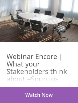 Webinar Encore | What your Stakeholders think about eSourcing
