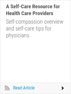 A Self-Care Resource for Health Care Providers