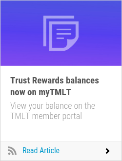 Trust Rewards balances now on myTMLT