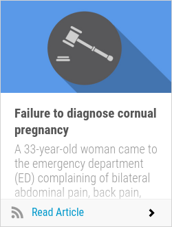 Failure to diagnose cornual pregnancy