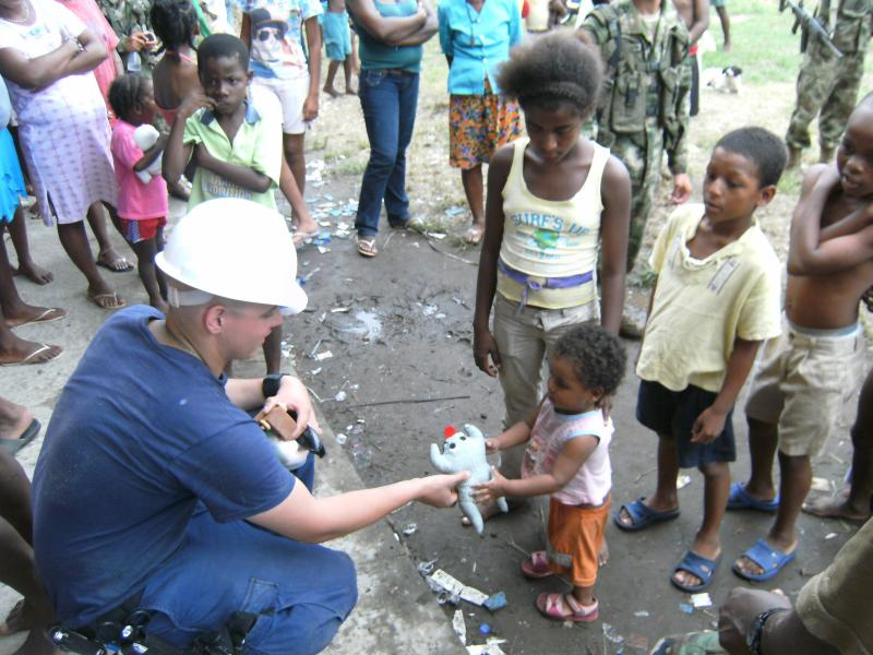 Tony Passalacqua on a medical response team.
