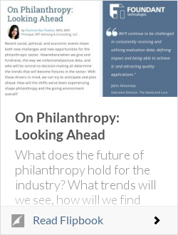 On Philanthropy: Looking Ahead