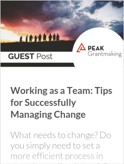 Working as a Team: Tips for Successfully Managing Change