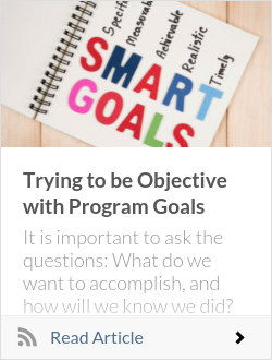 Trying to be Objective with Program Goals