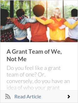 A Grant Team of We, Not Me