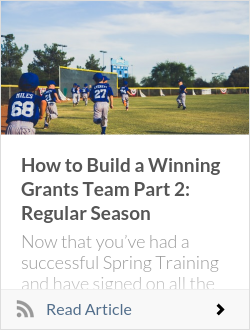 How to Build a Winning Grants Team Part 2: Regular Season