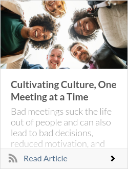 Cultivating Culture, One Meeting at a Time