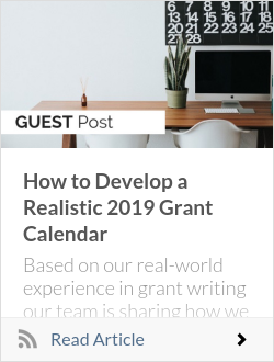 How to Develop a Realistic 2019 Grant Calendar