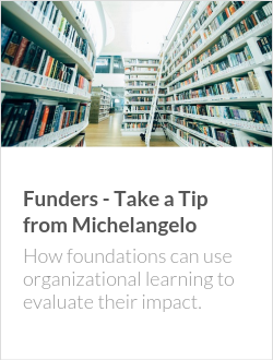 Funders - Take a Tip from Michelangelo