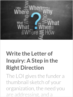 Write the Letter of Inquiry: A Step in the Right Direction