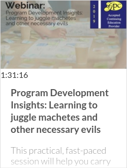 Program Development Insights: Learning to juggle machetes and other necessary evils