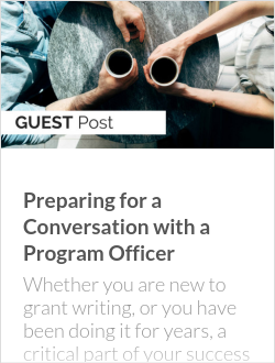 Preparing for a Conversation with a Program Officer