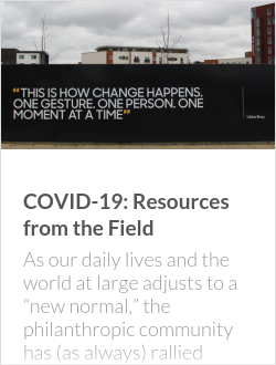 COVID-19: Resources from the Field