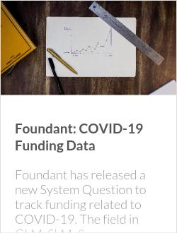 Foundant: COVID-19 Funding Data