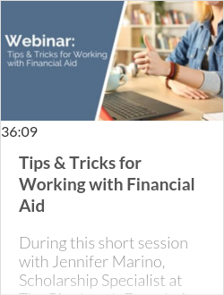 Tips & Tricks for Working with Financial Aid