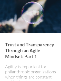 Trust and Transparency Through an Agile Mindset: Part 1