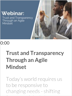 Trust and Transparency Through an Agile Mindset