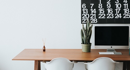 Desk with Calendar