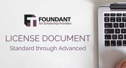Foundant Scholarships Advanced-Standard License Document
