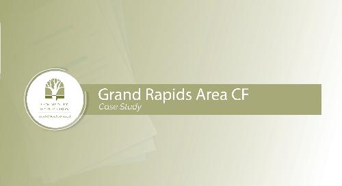 Grand Rapids Area Community Foundation Case Study