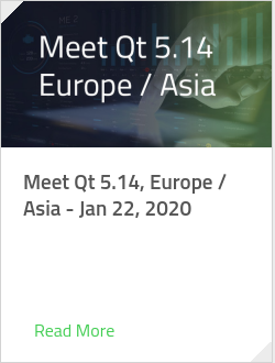 Meet Qt 5.14, Europe / Asia - Jan 22, 2020