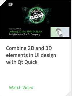 Combine 2D and 3D elements in UI design with Qt Quick