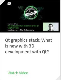 Qt graphics stack: What is new with 3D development with Qt?
