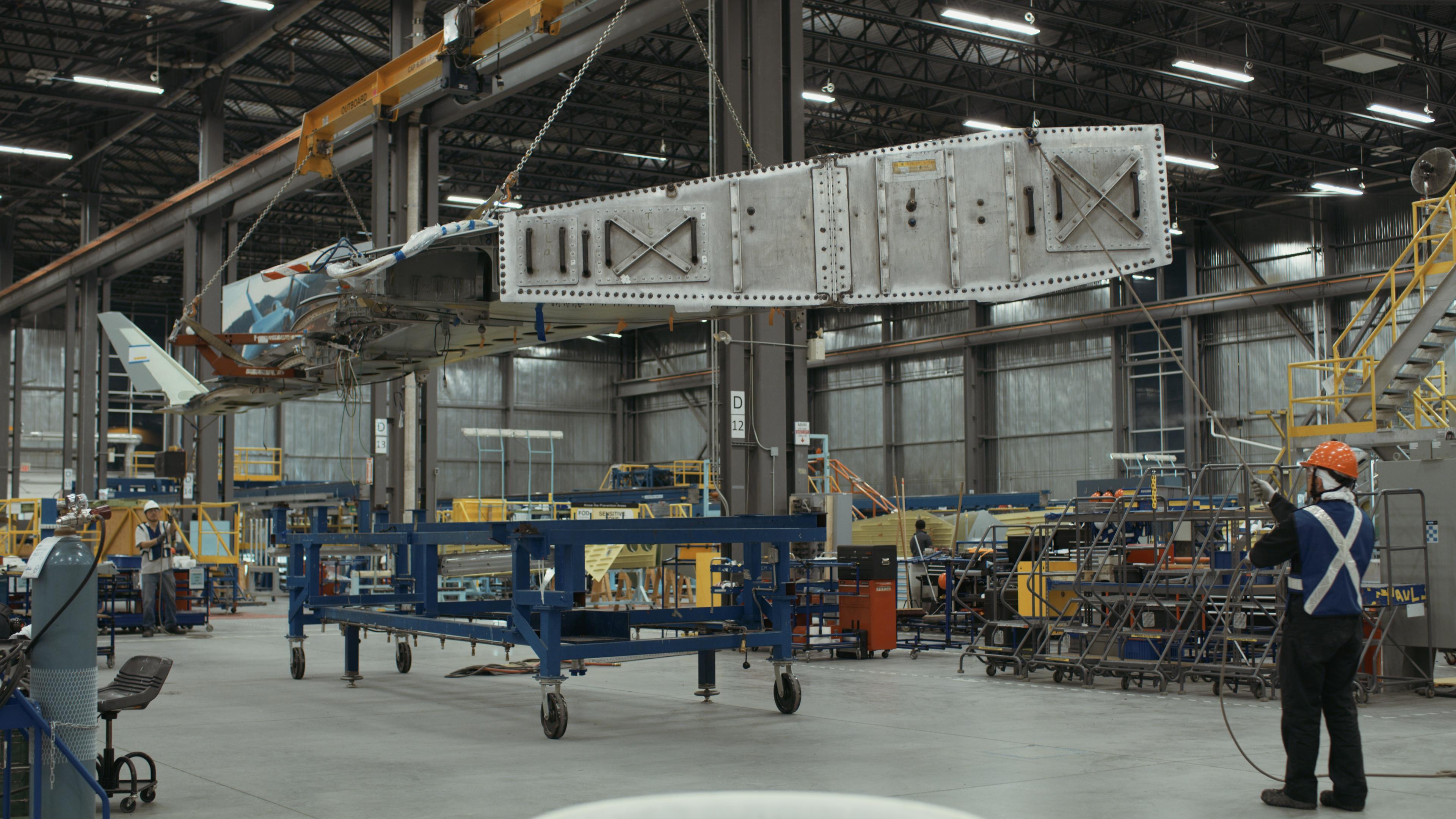 Un étage d'usine