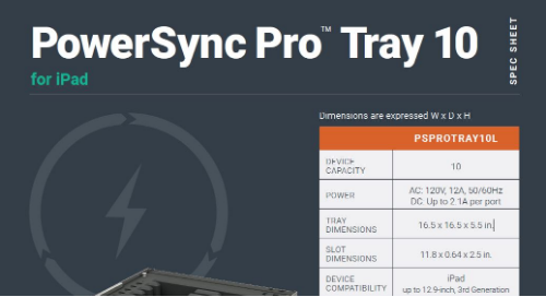 PowerSync Pro Tray 10 for iPad