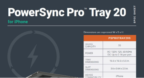 PowerSync Pro Tray 20 for iPhone