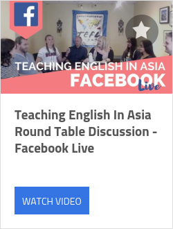 Teaching English In Asia Round Table Discussion - Facebook Live