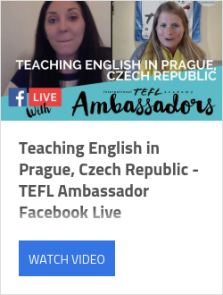 Teaching English in Prague, Czech Republic - TEFL Ambassador Facebook Live