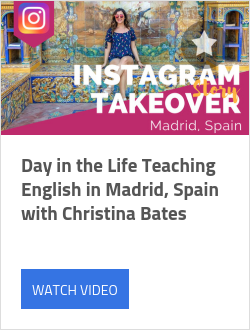 Day in the Life Teaching English in Madrid, Spain with Christina Bates