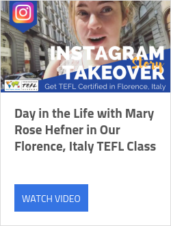 Day in the Life with Mary Rose Hefner in Our Florence, Italy TEFL Class