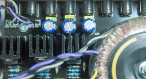 Interior of a switched-mode power supply