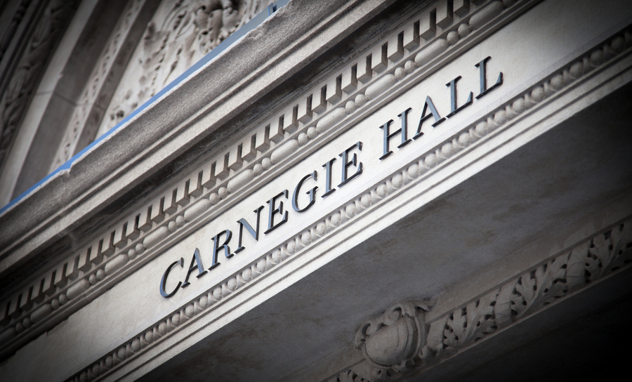 Front of Carnegie Hall)