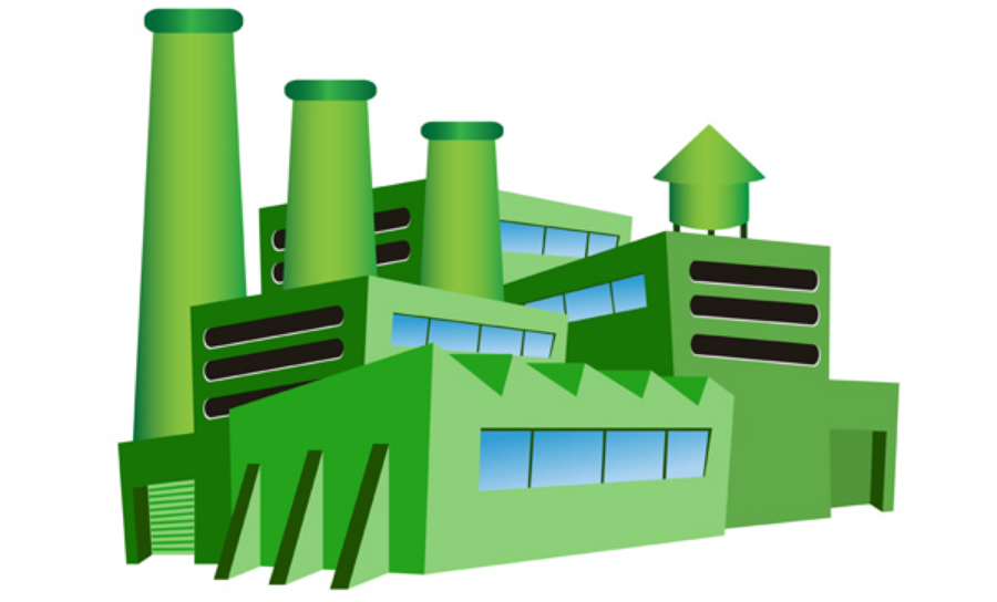 Eco-friendly sustainable manufacturing plant