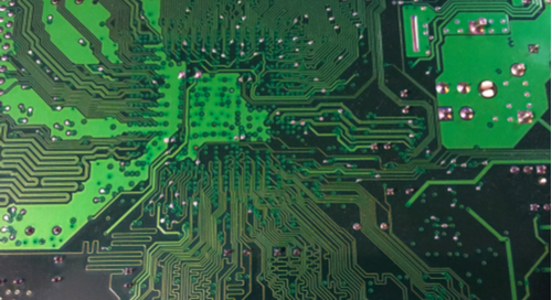 Circuit board with high-density traces