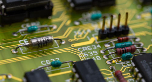 Components on an analog circuit board