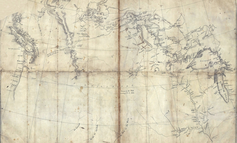 A map of Lewis and Clark's expedition through America