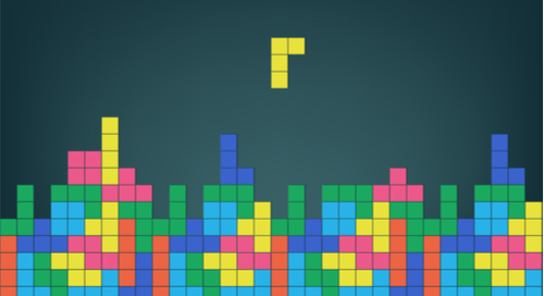 A screenshot of tetris tiles being put together