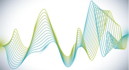 Analog waves on a white background