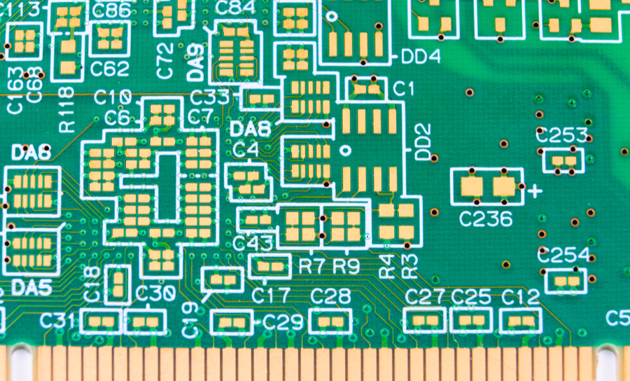 Fabricated PCB without components